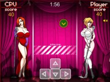 Porn game with virtual sex and sexy sluts fighting