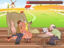 Porn games 18+ with busty milking breast