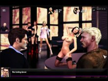 Fuck the stripper in browser game with 2d porn
