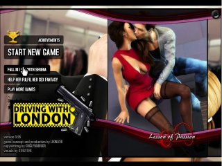 Taxi driver porn game with a nasty car fuck
