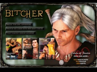 Story game with The Witcher parody sexy fuck