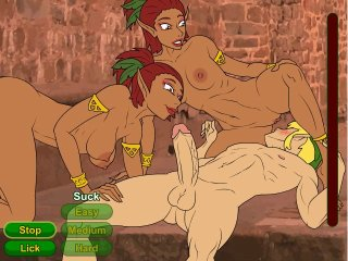 Elf princess fucking hard in mystical Zelda porn game