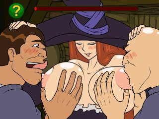 Sexy witch has butt fucked in porn game